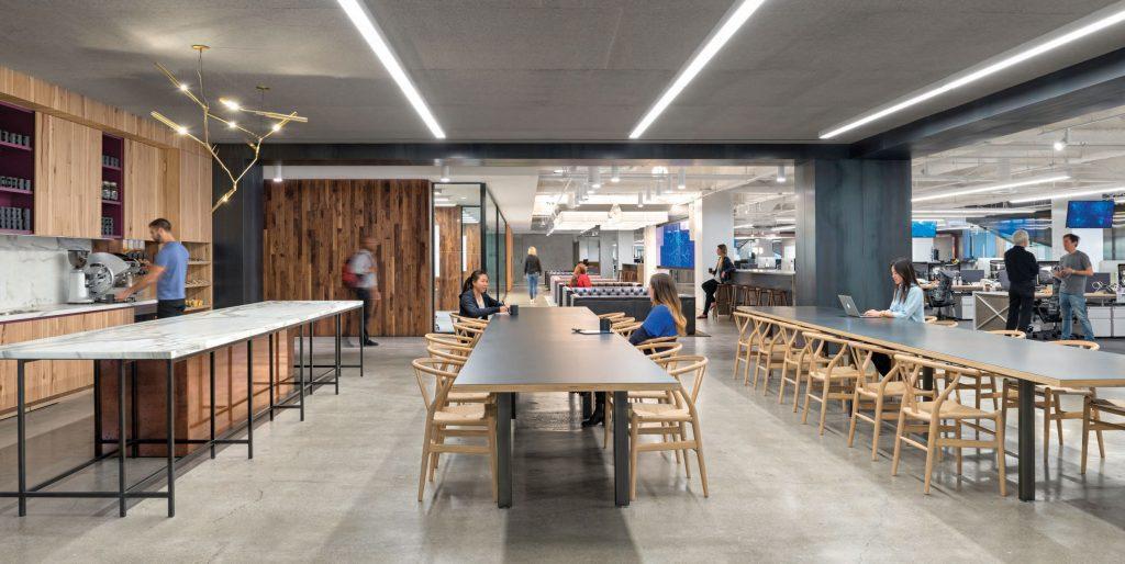 Open office plan break room